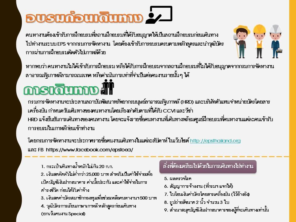 การสมัครทำงานระบบ EPS (Employment Permit System)